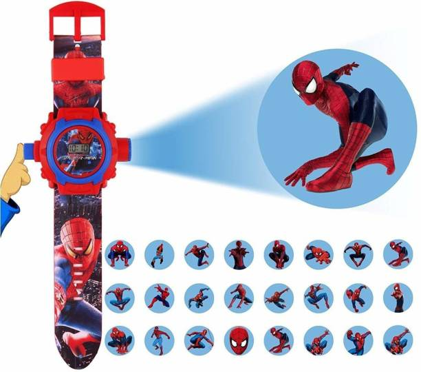 PIXMA SPIDERMAN Spider man Projector 24 Images Projector Watch for Kids