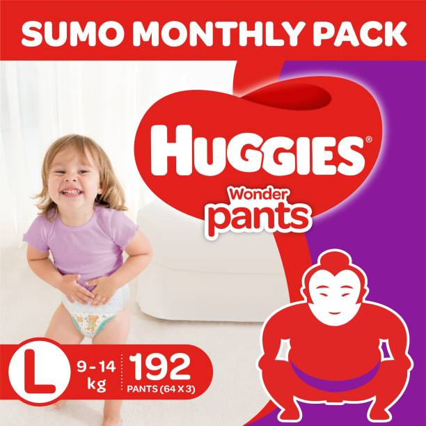 Huggies Wonder Pants with Bubble Bed Technology - L