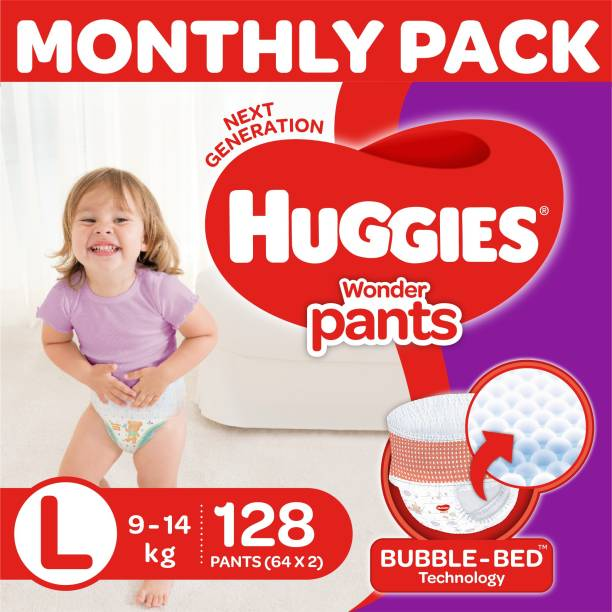 Huggies Wonder Pants Diapers -Monthly Box - L