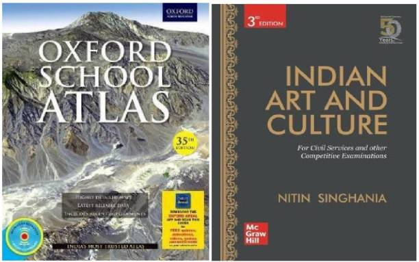 Oxford School Atlas 35th Edition With CD & INDIAN ART AND CULTURE