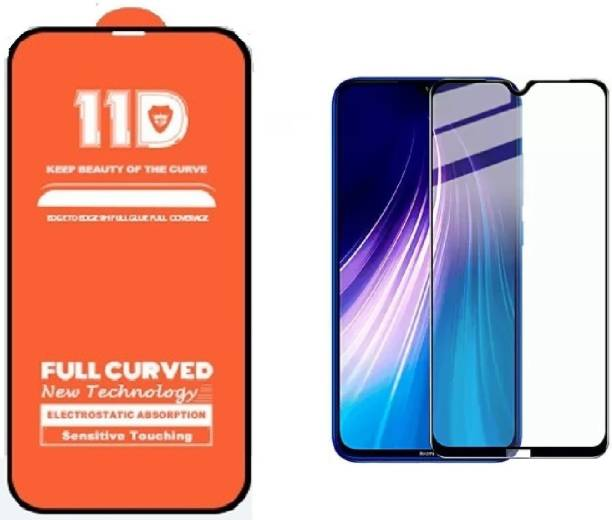 ISAAK Edge To Edge Tempered Glass for Redmi Note 8 Edge to Edge, Full Glue 11D Tempered Glass with 9H Hardness