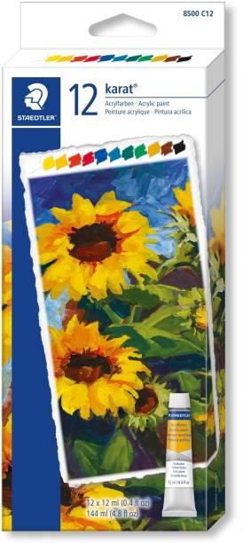 Staedtler Karat Acrylic paint tubes 8500 C12 12 Colors