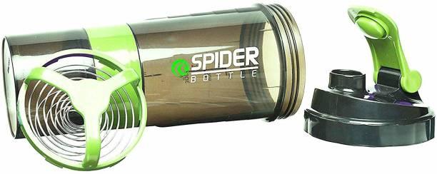 Quinergys ® Speed Spider Storage Shaker Bottle - Green 600 ml Shaker