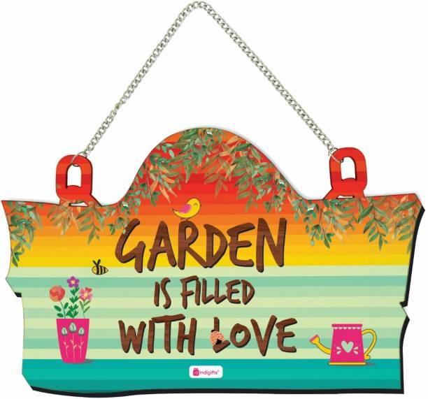 Indigifts Signboard for Lawn & Garden Area Decorative Wall Hanging