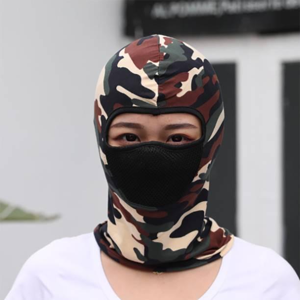 iSweven Beige, Multicolor, Brown Bike Face Mask for Men & Women
