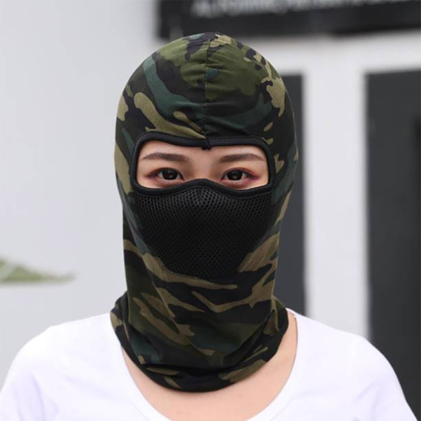 iSweven Green, Multicolor, Black Bike Face Mask for Men & Women