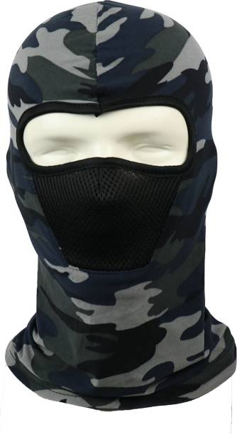 iSweven Blue, Multicolor, Grey Bike Face Mask for Men & Women