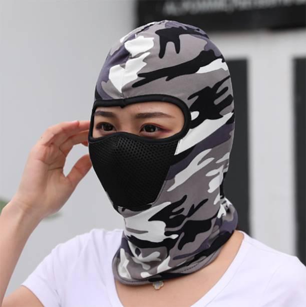 iSweven Grey, Multicolor Bike Face Mask for Men & Women