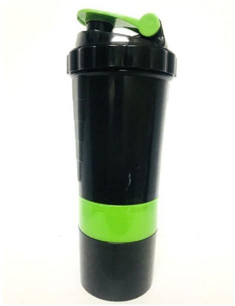 Quinergys ™ Blender Bottle Brand Classic Shaker Cup Includes Blender Ball Whisk - Green 600 ml Shaker