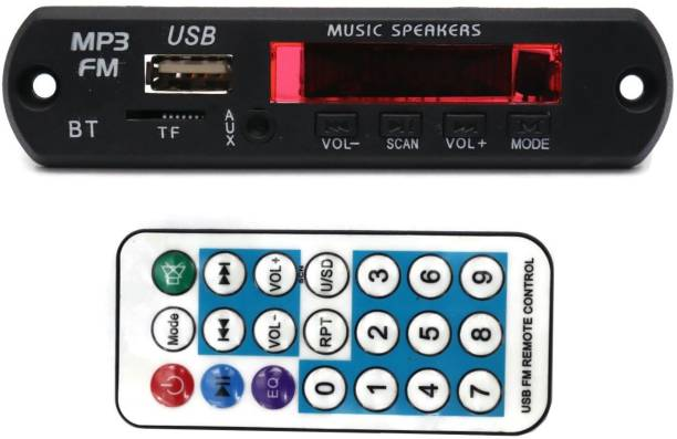 Electronic Spices Bluetooth FM USB AUX Card MP3 Stereo Audio Player Decoder Module Kit with Remote for Audio Amplifier DIY Car Stereo