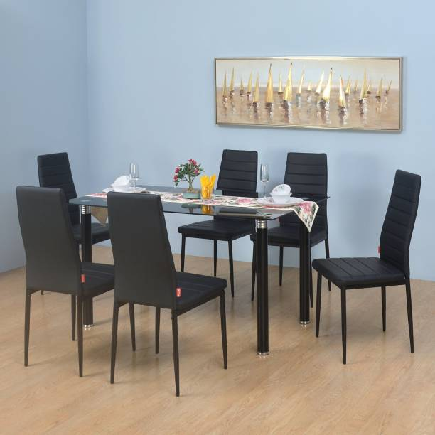 @Home by nilkamal Isaac Metal 6 Seater Dining Set