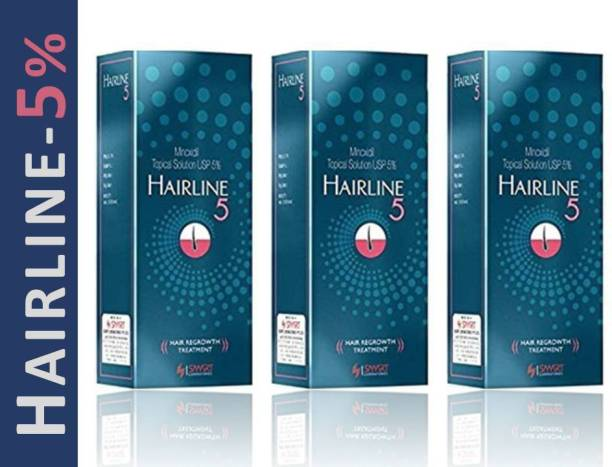 Hairline 5% Solution For Hair Regrowth & Hair Loss Treatment (3*60Ml)