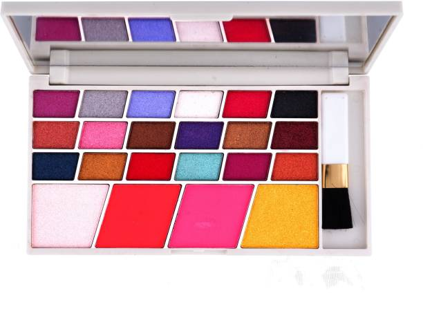 MARS 18 creamy eyeshadow,2 Highlighter,2 Blusher Makeup Kit