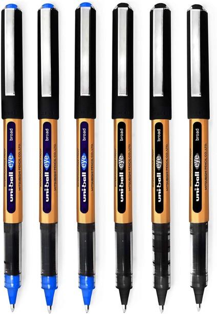 10 blue pens UNI-BALL JETSTREAM  PEN 0.5mm--blue ink
