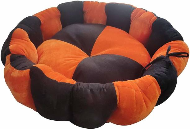 R.K Products 34 orange with brown L Pet Bed