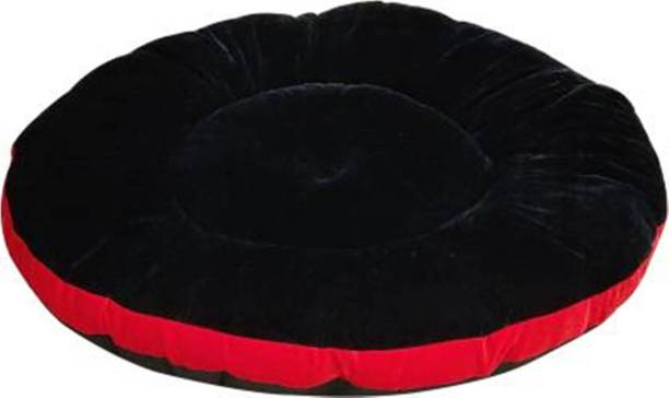 R.K Products 01 BLACK WITH RED PATTI GADI S Pet Bed