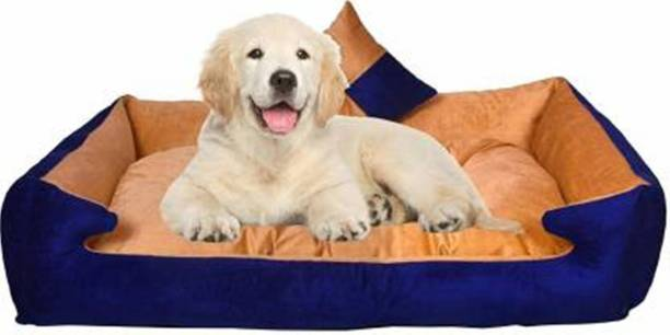 R.K Products 24 Blue with Golden M Pet Bed