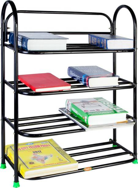 Patelraj Book Shelf And Multipurpose Iron Rack Metal Collapsible Shoe Stand