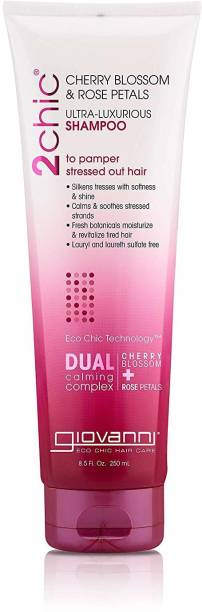 Giovanni 2Chic Ultra-Luxurious Shampoo With Cherry Blossom & Rose Petals, 8.5 Fluid Ou
