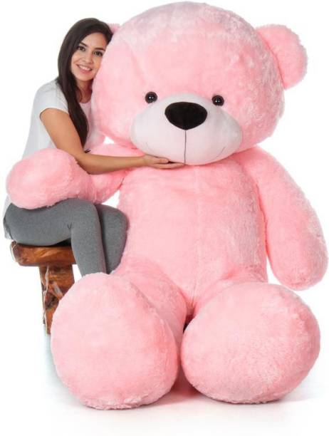 GLOBLE STAR Teddy Bear valentines gift for girls Loveable and Huggable Baby Pink  - 91.44 cm