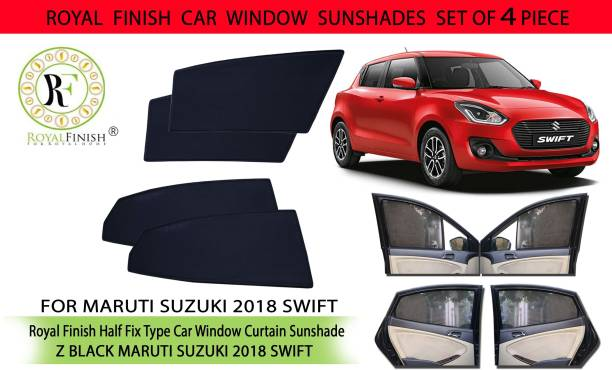 ROYAL FINISH Rear Window, Side Window Sun Shade For Maruti Suzuki Swift