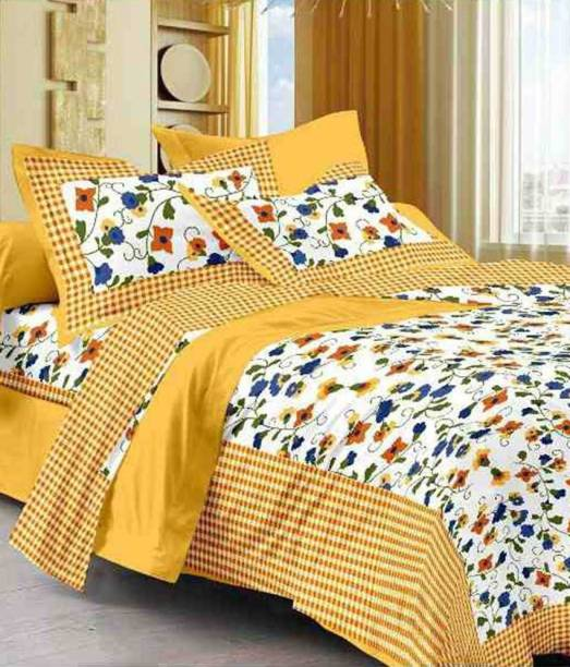 mohit creation 235 TC Cotton Double King Printed Bedsheet