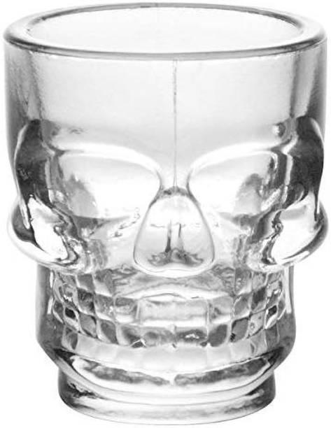 MIR (Pack of 2) Skull Shape Whiskey Glass Glass Set