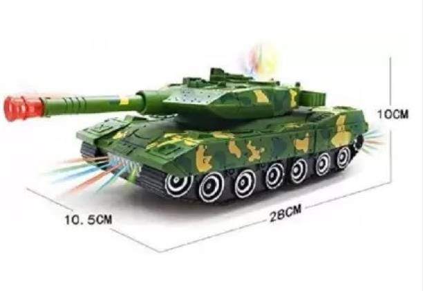 Palash Toys Deformation Combat Tank Transformer Robot Toy with 3D Light, Dynamic Music and Bump & Go Function  (Multicolor)