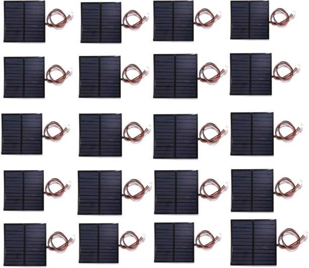 Electronic Spices PACK OF 20 6V 100MA WIRE ATTACHED Solar Panel Solar Panel