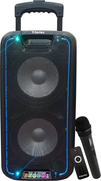 T-Series TR1010 80W Trolley Speaker Portable Wireless Bluetooth DJ Party Speaker with LED Lights Rechargeable 80 W Bluetooth PA Speaker