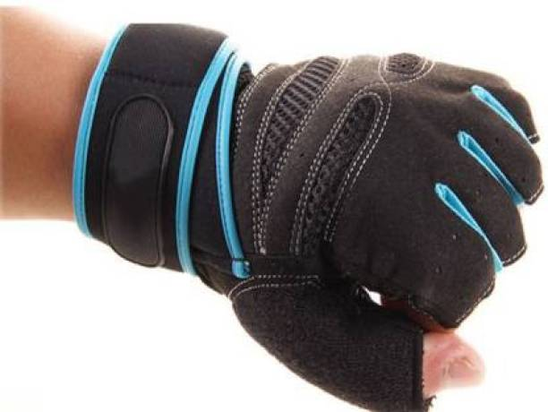 Rocket Sales 110 Silicone Pads Gym Gloves for Weightlifting, Fitness with Wrist wrap Support Gym & Fitness Gloves
