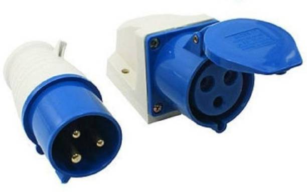 brow Industrial Plug and Socket 16 A x 3 Pin 220V Weatherproof IP44 plug socket Wire Connector