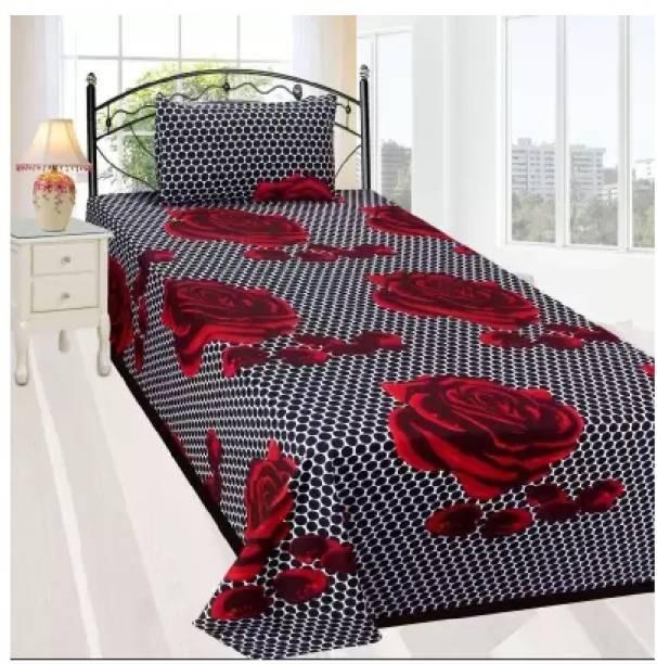 Decor Home Readiness 140 TC Polycotton Single 3D Printed Bedsheet