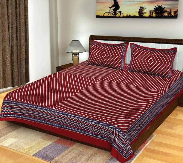 Vaibhav Cart 144 TC Cotton Double Floral Bedsheet