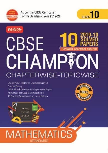 10 Years Cbse Champion Chapterwise-Topicwise Mathematics Class- 10