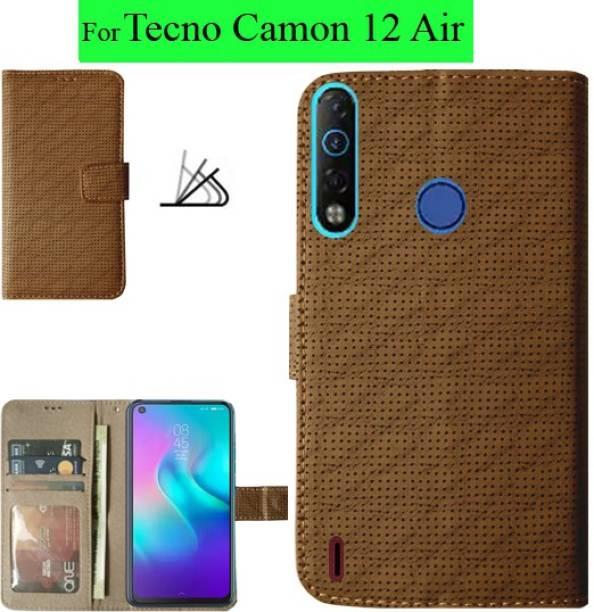 MAXSHAD Flip Cover for Tecno Camon 12 Air, Tecno Camon 12 Air Flip Cover, Tecno 12 Air Flip Cover