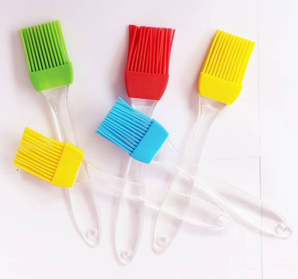 batwada 5 pcs- Silicone Oil Brush silicon Flat Pastry Brush