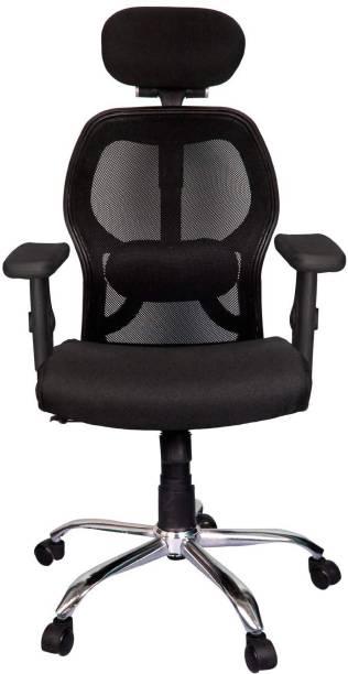 Rajpura Matrix High Back Revolving Chair Adjustable Arms (RSE002 Black) Fabric Office Executive Chair