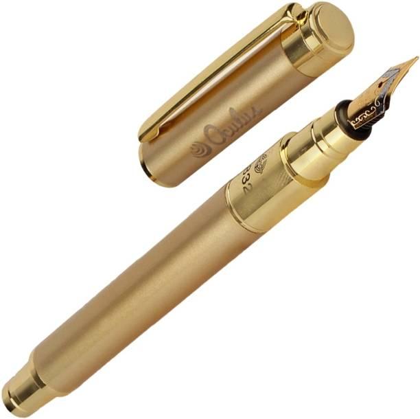 Oculus Smooth 5406 Titanium Steel Tip, Golden Metallic Fountain Pen