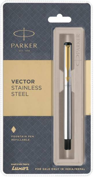 PARKER Vector Stainless Steel (Gold Nib) Fountain Pen