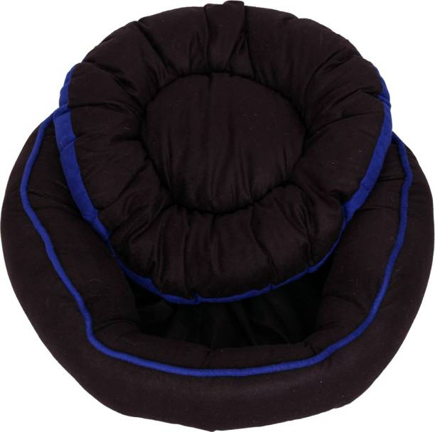 R.K Products 42 BLACK WITH BLUE LINING M Pet Bed