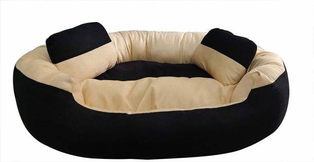 R.K Products 59 cream with brown M Pet Bed