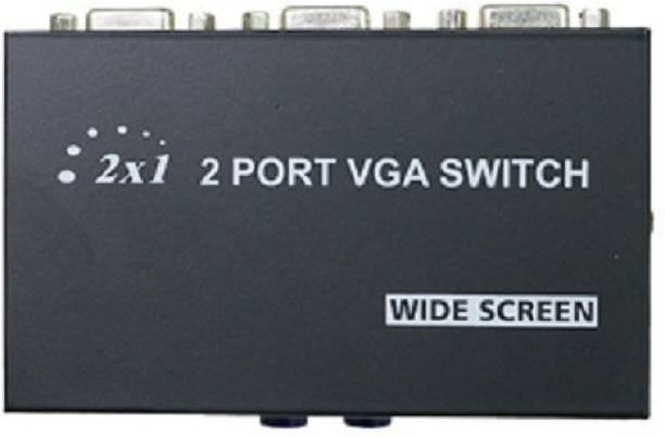 techut  TV-out Cable 2 PORT VGA SWITCH to Connect Two CPU to One Display