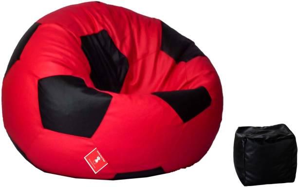 ComfyBean XXXL Football Free Footrest Body Fitter Bean Bag  With Bean Filling