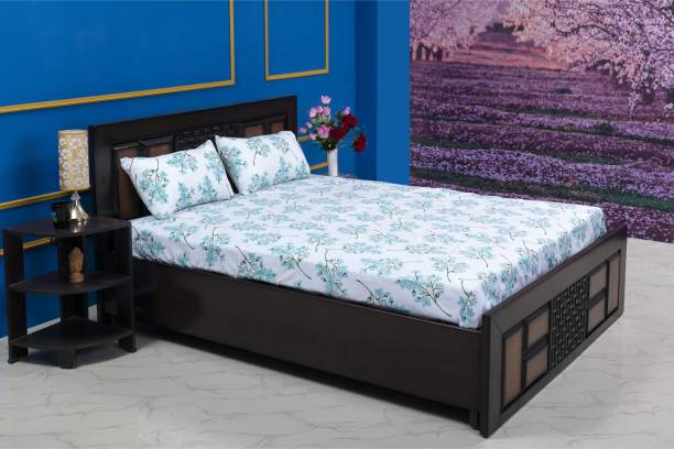 RECRON CERTIFIED 176 TC Microfiber Double Printed Bedsheet
