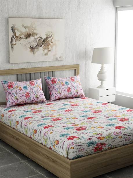 PORTICO NEW YORK 144 TC Cotton Single Printed Bedsheet
