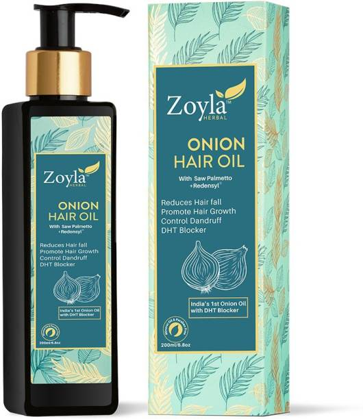 Zoyla Herbal Onion Hair Oil 200ML with Redensyl & DHT Blocker to Reduce Hair Fall Promote Hair Growth Hair Oil
