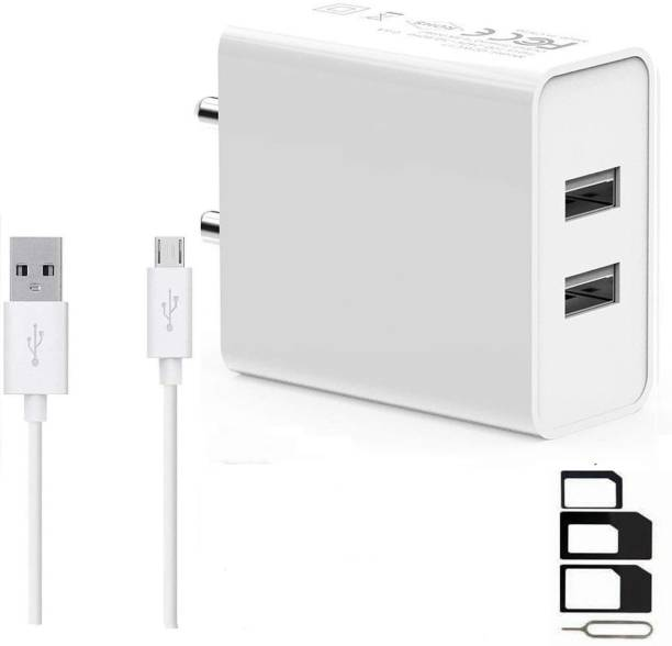 RunSale Wall Charger Accessory Combo for Panasonic Eluga Ray X::Gionee S6s::Samsung Galaxy J3 Pro::Lenovo Phab 2::Samsung Galaxy S7::Lyf Water 7::Micromax Canvas 5 E481::Vivo Y55L::Samsung Galaxy On7::Lenovo P2::Samsung Galaxy On Nxt::Honor 6X::Coolpad Note 5::Samsung Galaxy J7::Oppo F1 Plus::Vivo V5s::Micromax Canvas Juice 4G Q461::Lenovo Vibe K5 Plus::Samsung Z2::Vivo Y51L::Moto G5 Dual Port Charger Original Adapter Like Wall Charger::Mobile Power Adapter::Fast Charger::Android Smartphone Charger::Battery Charger::High Speed Travel Charger With 1 Meter Micro USB Cable Charging Cable Data Cable