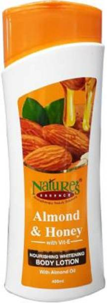 Nature's Almond & Honey With Vit E Nourishing Whitening Body Lotion With Almond Oil