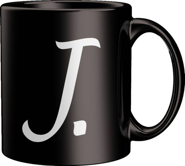 ECFAK Quotes With Alphabet: J Ceramic Coffee Mug